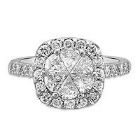2 ct. tw. Multi-Diamond Engagement Ring in 14K White Gold