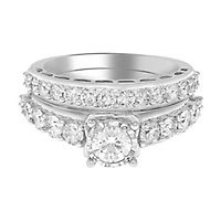 2 ct. tw. Diamond Engagement Ring Set in 14K White Gold