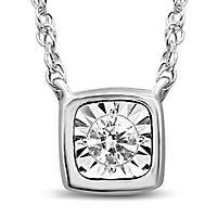 1/10 ct. tw. Diamond Illusion Pendant in 10K White Gold