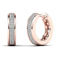 1/7 ct. tw. Diamond Huggie Hoop Earrings in 14K Rose Gold