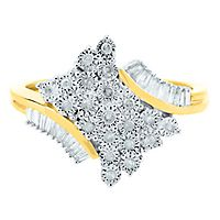 1/5 ct. tw. Diamond Ring in 10K Yellow & White Gold