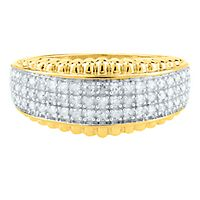 1/4 ct. tw. Diamond Multi-Row Ring in 10K Yellow Gold