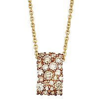 Australian Diamonds 3/4 ct. tw. Golden Diamond Pendant in 14K Yellow Gold