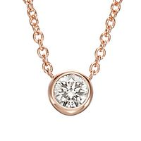 Australian Diamonds 1/3 ct. tw. Golden Diamond Solitaire Pendant in 14K Rose Gold