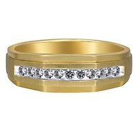 Men's 1/4 ct. tw. Diamond Ring in 10K Yellow Gold