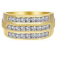 Men's 1 ct. tw. Diamond Ring in 10K Yellow Gold
