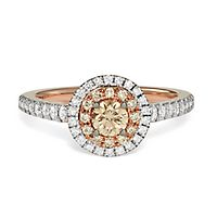 Australian Diamonds 3/4 ct. tw. Golden Diamond Ring in 14K Rose Gold