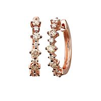 Australian Diamonds 1 ct. tw. Golden Diamond Hoop Earrings in 14K Rose Gold