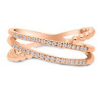 1/10 ct. tw. Diamond Spiral Ring in 10K Rose Gold