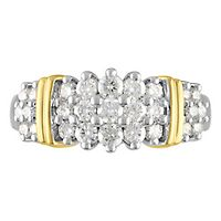 1 ct. tw. Diamond Band in 14K White & Yellow Gold