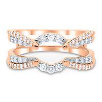 1/2 ct. tw. Diamond Ring Enhancer in 10K Rose Gold