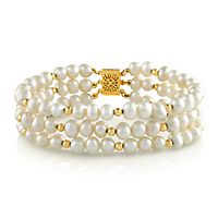 Freshwater Cultured Pearl Bracelet in 14K Yellow Gold
