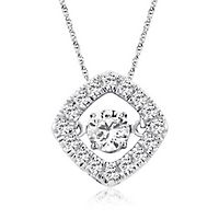 The Beat of Your Heart® 1/3 ct. tw. Diamond Pendant in 10K White Gold