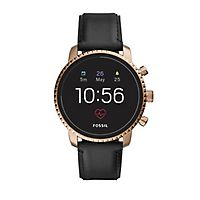 Fossil Gen 4 Explorist Black Leather Smartwatch