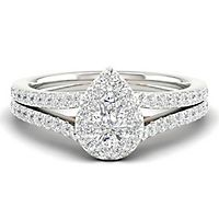 My Diamond Story® 7/8 ct. tw. Diamond Engagement Ring in 14K White Gold