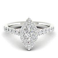 My Diamond Story® 1 1/14 Diamond Engagement Ring in 14K White Gold