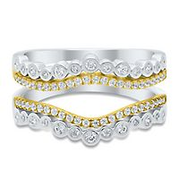 1/2 ct. tw. Diamond Ring Enhancer in 10K White & Yellow Gold