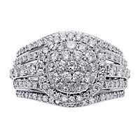 1 7/8 ct. tw. Multi-Diamond Engagement Ring in 10K White Gold