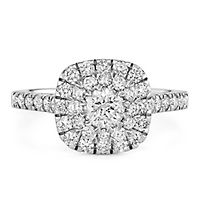 1 1/2 ct. tw. Diamond Halo Engagement Ring in 14K White Gold