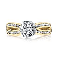 1/2 ct. tw. Diamond Engagement Ring in 14K Yellow & White Gold