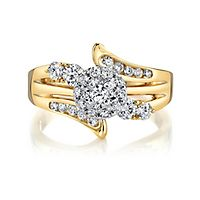 3/4 ct. tw. Diamond Engagement Ring in 14K Yellow & White Gold