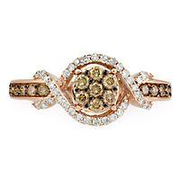 1/2 ct. tw. Champange Diamond Ring in 14K Rose Gold