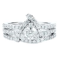 1 1/4 ct. tw. Diamond Halo Engagement Ring Set in 14K White Gold