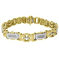 Men's 1/4 ct. tw. Diamond Bracelet in 10K Yellow Gold