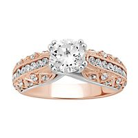 1 1/2 ct. tw. Diamond Engagement Ring in 14K Rose & White Gold