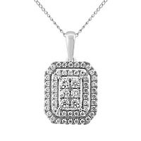 1/2 ct. tw. Diamond Pendant in 10K White Gold