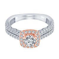 1 ct. tw. Diamond Engagement Ring in 14K White & Rose Gold