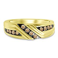 Men's 1/3 ct. tw. Champagne Diamond Ring in 10K Yellow Gold