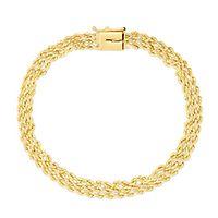 Triple Rope Bracelet in 14K Yellow Gold