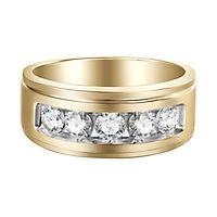 Men's 1 ct. tw. Diamond Band in 10K Yellow Gold