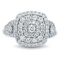 Light Heart™ 1 1/2 ct. tw. Lab Grown Diamond Ring in 14K White Gold