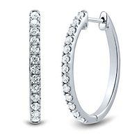 Light Heart™ 1 ct. tw. Lab Grown Diamond Hoop Earrings in 14K White Gold