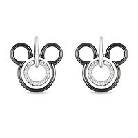 Enchanted Disney 1/7 ct. tw. Diamond Mickey Mouse Earrings in Sterling Silver