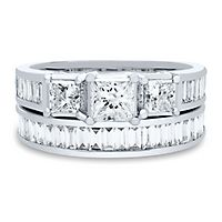 2 1/4 ct. tw. Diamond Engagement Ring Set in 14K White Gold