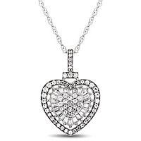 1/2 ct. tw. Diamond Heart Pendant in 10K White Gold