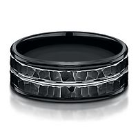 Men's Band in Black Cobalt, 8MM