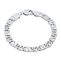 Men's 1/4 ct. tw. Diamond Mariner Link Bracelet in Stainless Steel