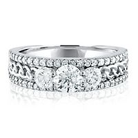 1 1/4 ct. tw. Diamond Three-Stone Ring in 14K White Gold