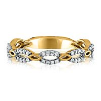 1/7 ct. tw. Diamond Link Ring in 10K Yellow Gold