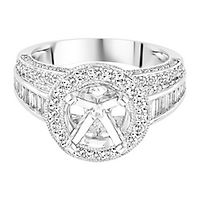 1 1/4 ct. tw. Diamond Semi-Mount Halo Engagement Ring in 14K White Gold
