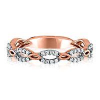1/7 ct. tw. Diamond Link Ring in 10K Rose Gold