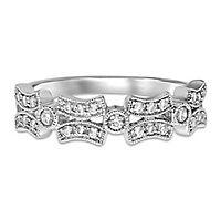 1/4 ct. tw. Diamond Link Ring in 10K White Gold