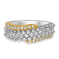 1 1/4 ct. tw. Diamond Band in 14K White & Yellow Gold