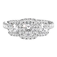 Radiant Star® 1 1/2 ct. tw. Diamond Engagement Ring in 14K White Gold