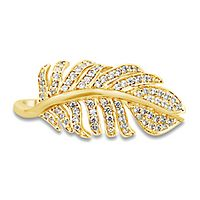 1/3 ct. tw. Diamond Leaf Ring in 10K Yellow Gold