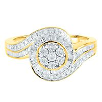 1/4 ct. tw. Diamond Ring in 10K Yellow Gold